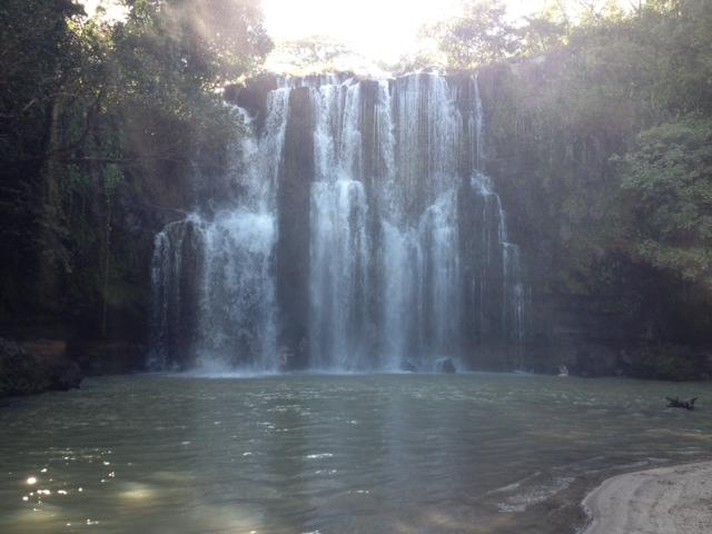 waterfall in Costa Rican jungle