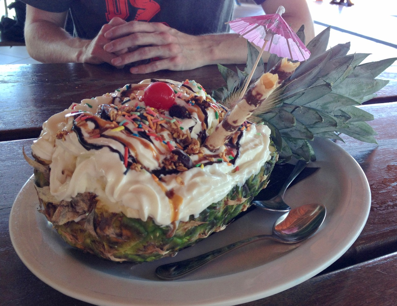 Ice Cream Sundae on Pineapple