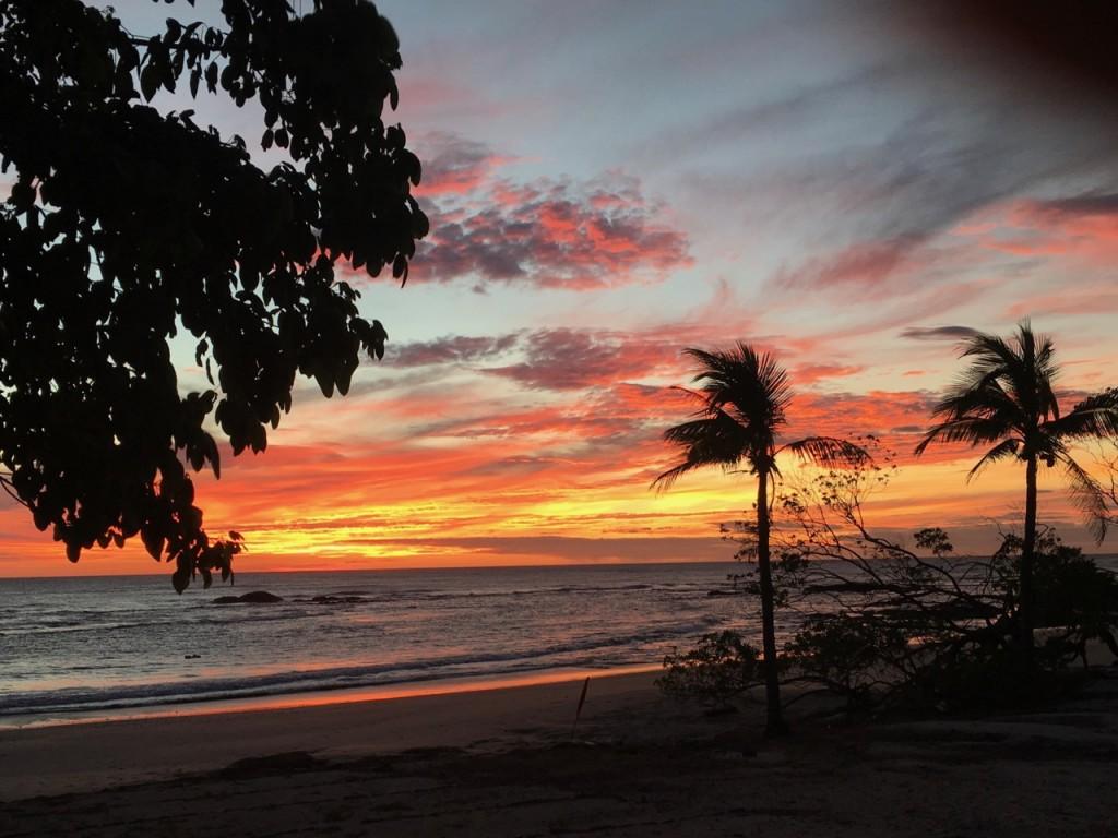 beautiful costa rican sunset