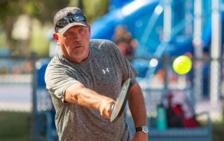 man attending pickleball camps for seniors in costa rica