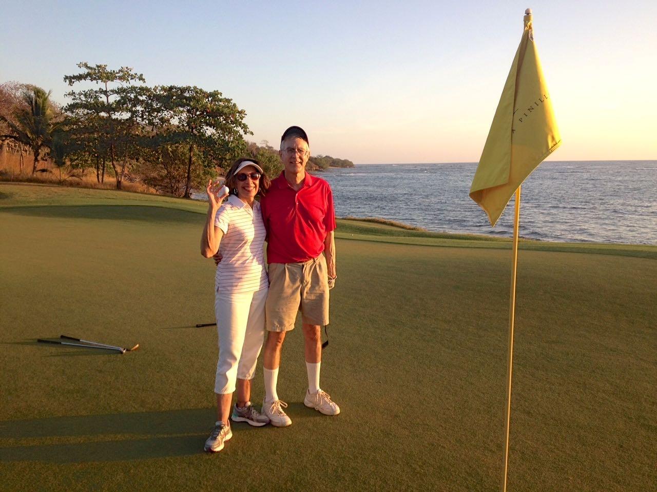 Senior Couple at Hacienda Pinilla Golf Course