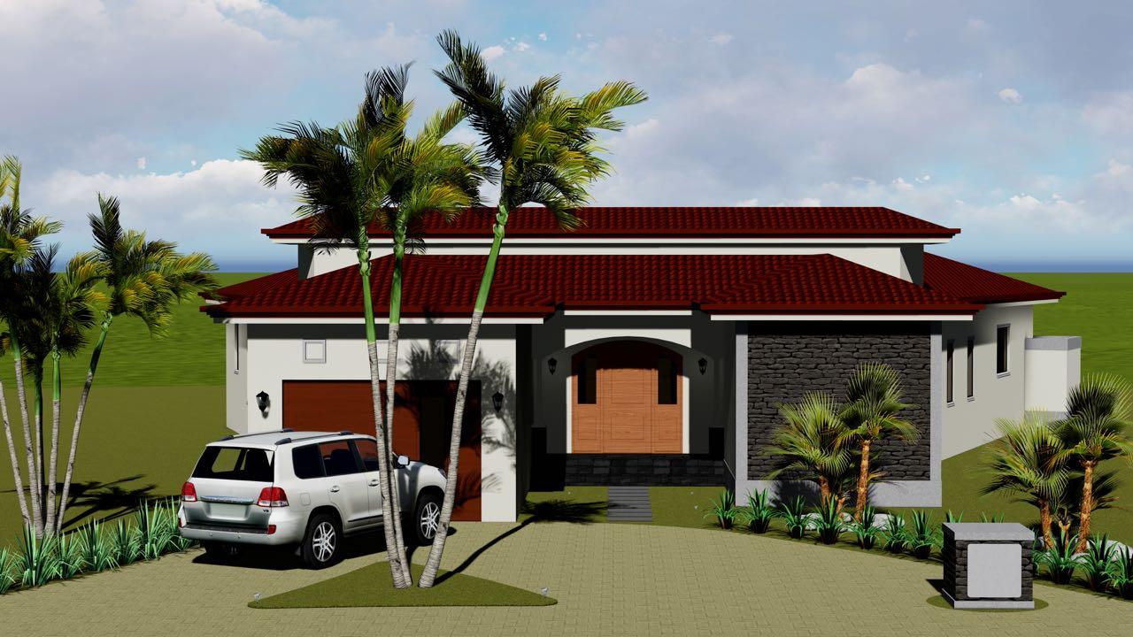Graphic of Front of Villa for Sale Hacienda Pinilla