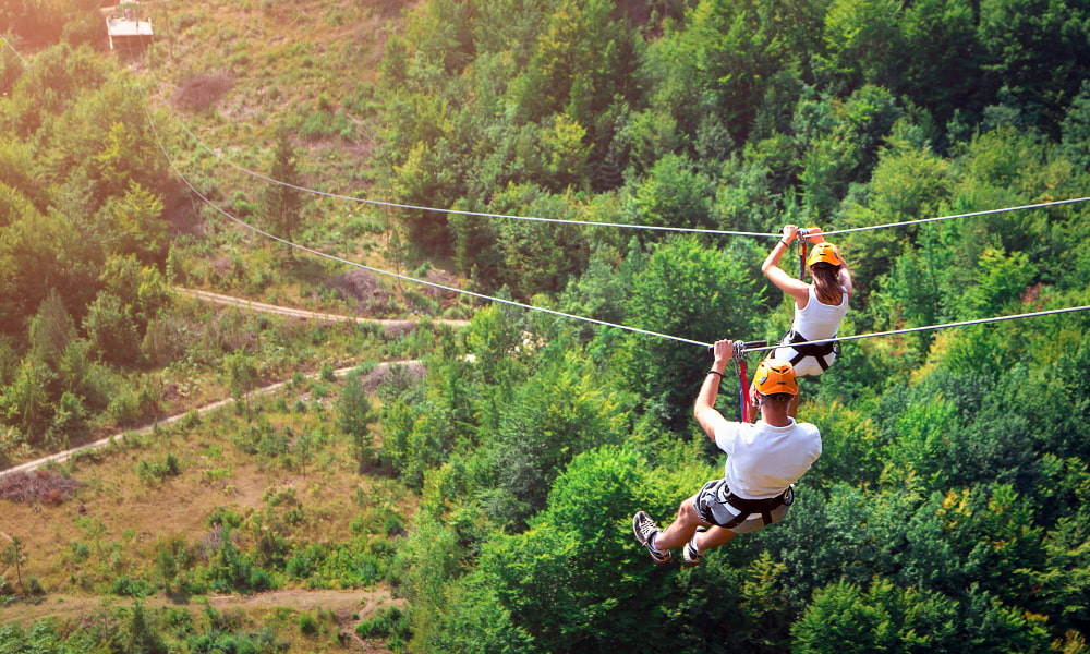 ziplining in a costa rica all inclusive vacation