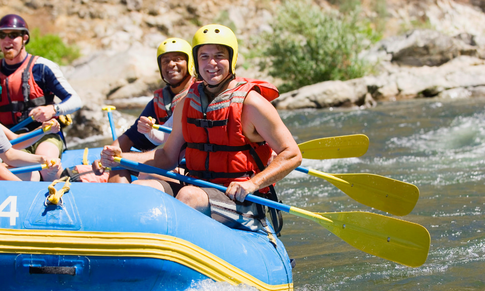 white water rafting in costa rica during pickleball vacation