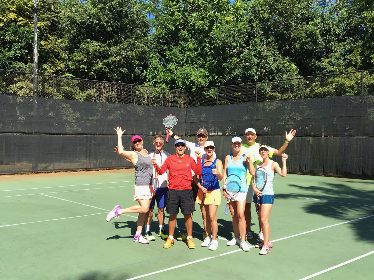 Tennis Camp with group