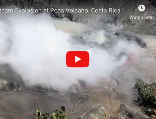 Steam Explosion at Poas Volcano, Costa Rica