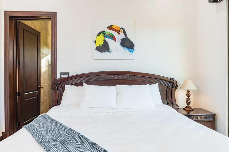 pura vida house bedroom in costa rica