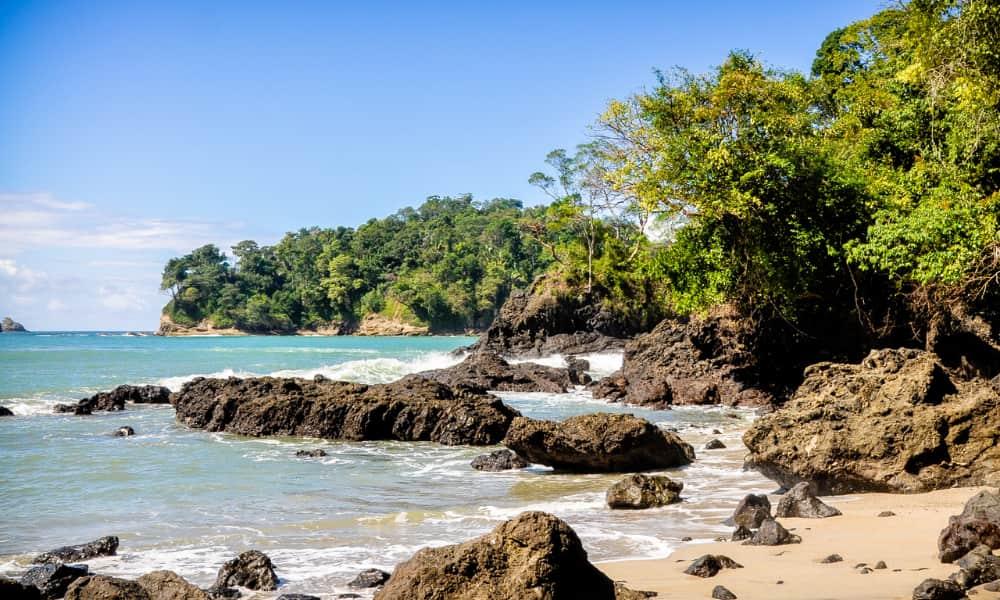 a rocky beach located in costa rica